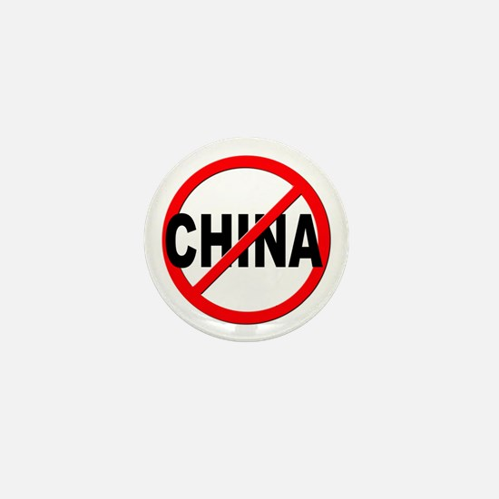 Anti / No China Mini Button