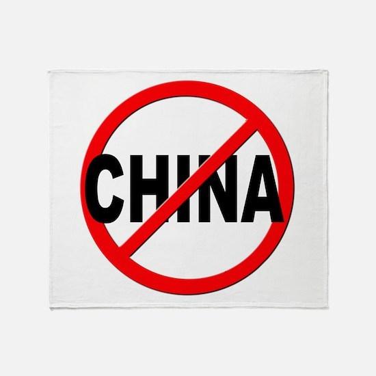 Anti / No China Throw Blanket