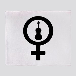 Female Sign - Viola Throw Blanket