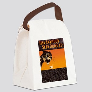 Lost Cat Vintage Canvas Lunch Bag