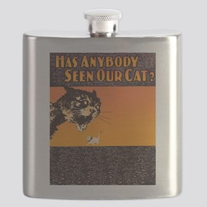 Lost Cat Vintage Flask