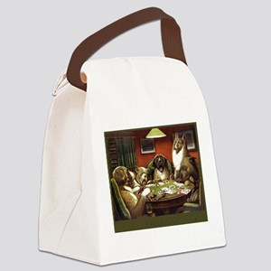 Waterloo Dog Poker Canvas Lunch Bag