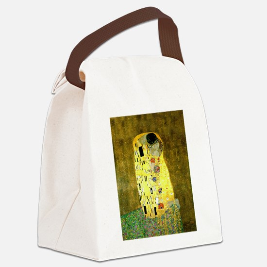 The Kiss Gustav Klimt Canvas Lunch Bag