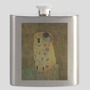 The Kiss Gustav Klimt Flask