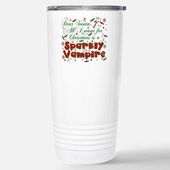 Dear Santa Vampire Stainless Steel Travel Mug