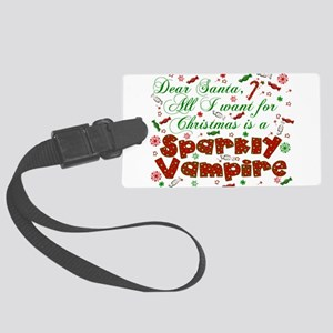 Dear Santa Vampire Large Luggage Tag