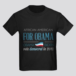 African American For Obama Kids Dark T-Shirt