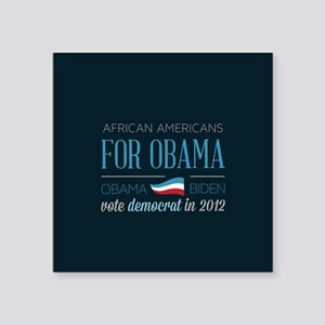 "African Americans For Obama Square Sticker 3"" x 3"""