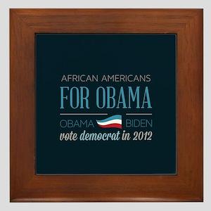 African Americans For Obama Framed Tile