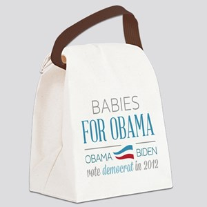 Babies For Obama Canvas Lunch Bag