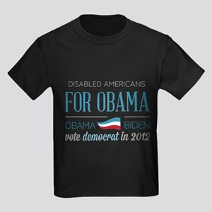 Disabled Americans For Obama Kids Dark T-Shirt
