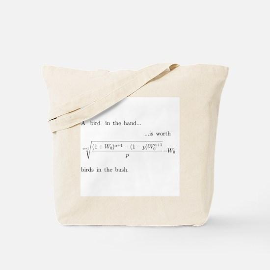 Risk aversion Tote Bag