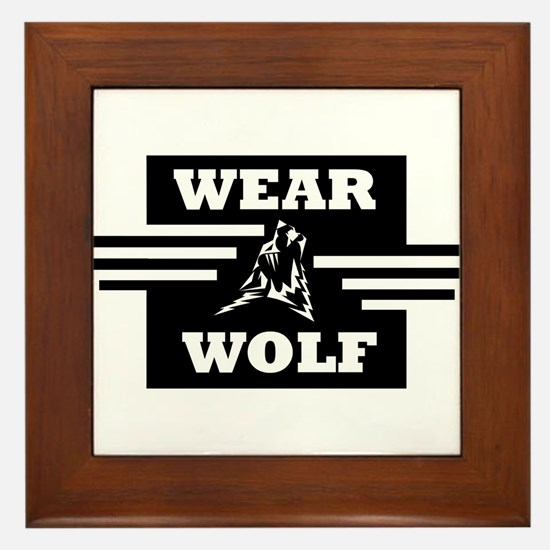 WEARWOLF CLOTHING LOGO Framed Tile
