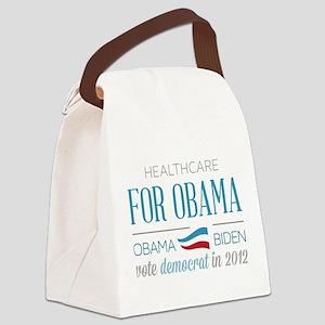 Healthcare Voter For Obama Canvas Lunch Bag
