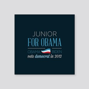 "Junior For Obama Square Sticker 3"" x 3"""