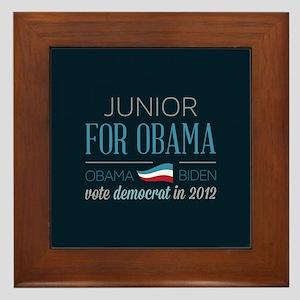 Junior For Obama Framed Tile