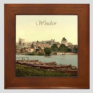Vintage Windsor Castle Framed Tile