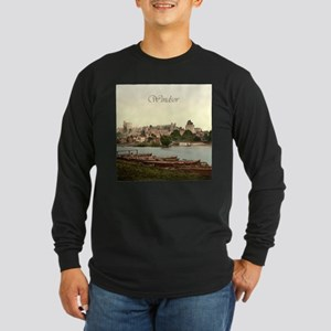 Vintage Windsor Castle Long Sleeve Dark T-Shirt