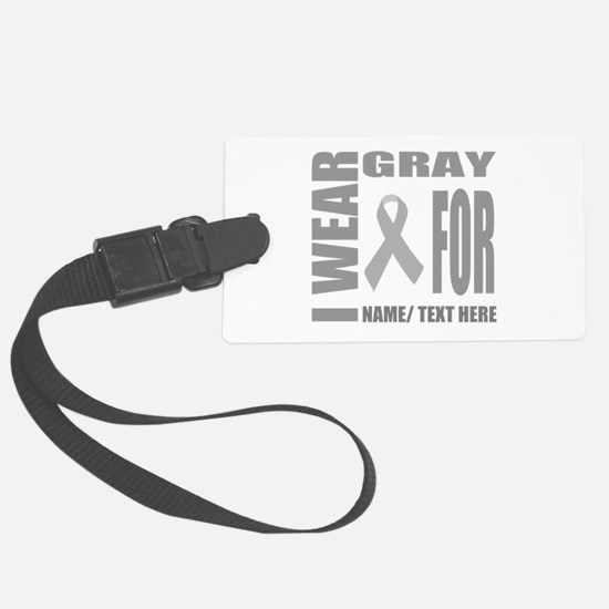 Gray Awareness Ribbon Customized Luggage Tag