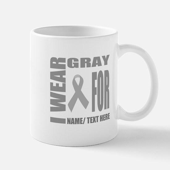 Gray Awareness Ribbon Customized Mug