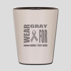 Gray Awareness Ribbon Customized Shot Glass