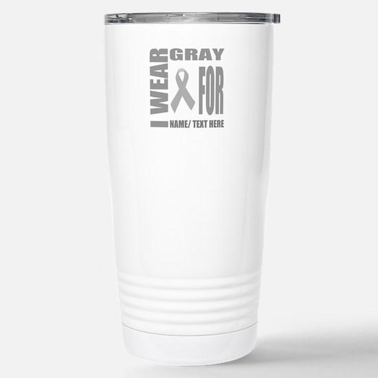 Gray Awareness Ri Travel Mug