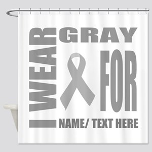 Gray Awareness Ribbon Customized Shower Curtain