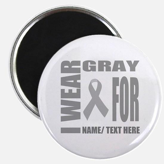 Gray Awareness Ribbon Customized Magnet