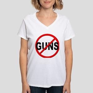 Anti / No Guns Women's V-Neck T-Shirt