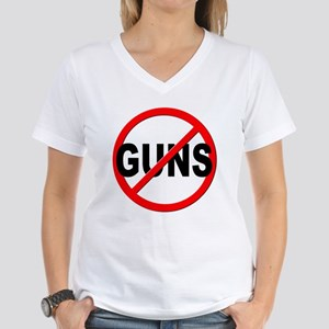 Anti / No Guns Women's V-Neck T-Shirt