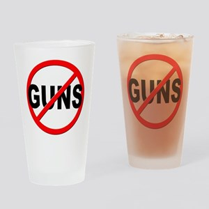 Anti / No Guns Drinking Glass