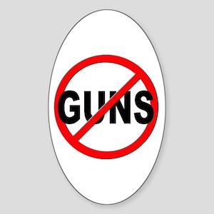 Anti / No Guns Sticker (Oval)