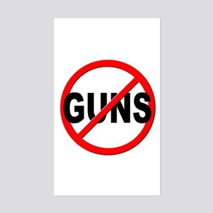 Anti / No Guns Sticker (Rectangle)