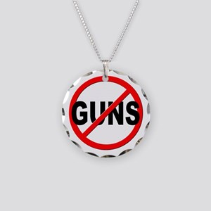 Anti / No Guns Necklace Circle Charm