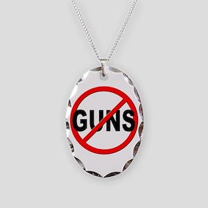 Anti / No Guns Necklace Oval Charm