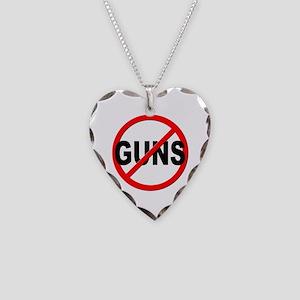 Anti / No Guns Necklace Heart Charm