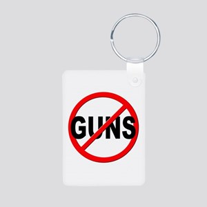 Anti / No Guns Aluminum Photo Keychain