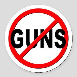 Anti / No Guns Round Car Magnet