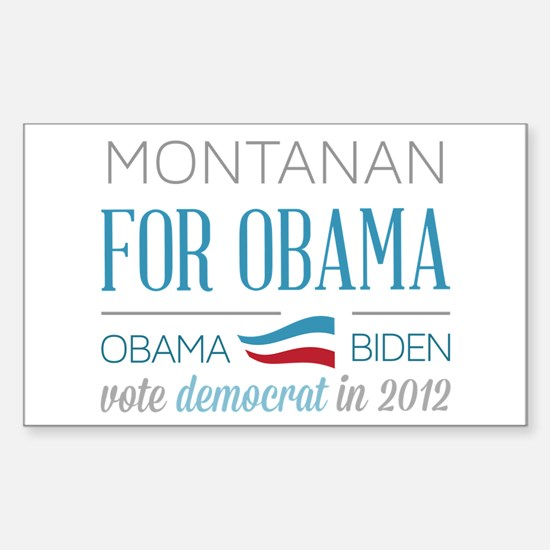Montanan For Obama Sticker (Rectangle)