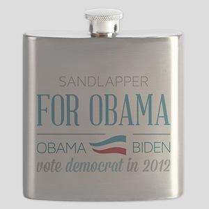 Sandlapper For Obama Flask