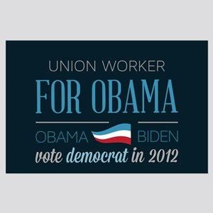 Union Worker For Obama Large Poster
