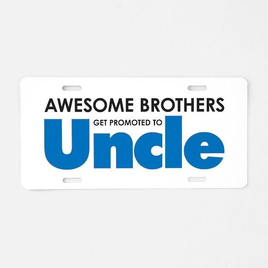 Cute Uncle Aluminum License Plate