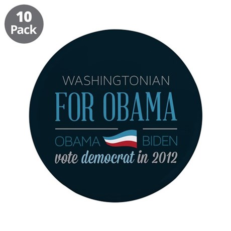 "Washingtonian For Obama 3.5"" Button (10 pack)"