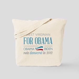 West Virginian For Obama Tote Bag
