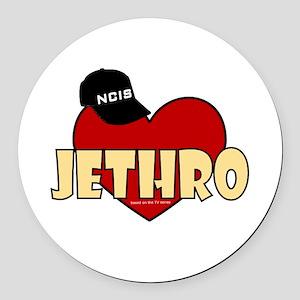NCIS Jethro Gibbs Round Car Magnet