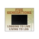 Five Generations Logging Picture Frame