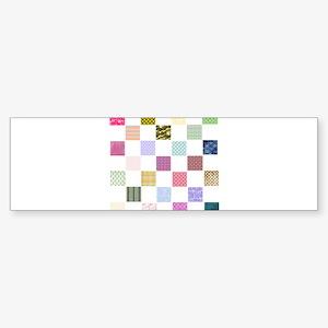 Rainbow Quilt Sticker (Bumper)