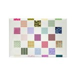 Rainbow Quilt Rectangle Magnet (100 pack)