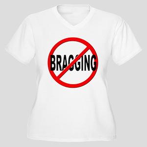 Anti / No Bragging Women's Plus Size V-Neck T-Shir