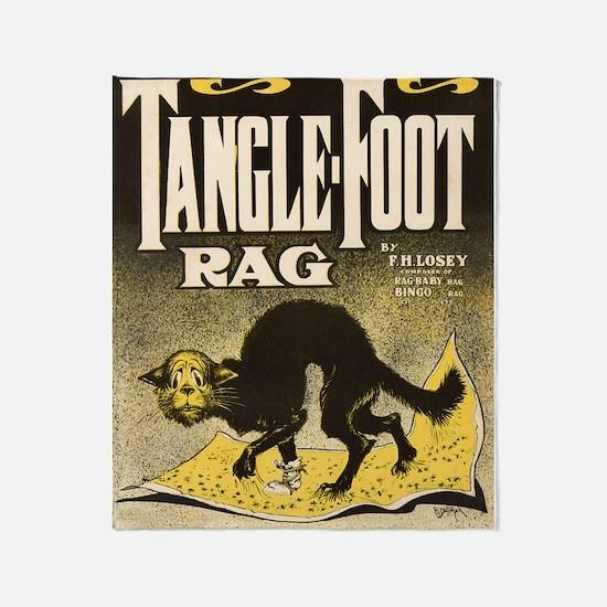 Tangle Foot Rag Throw Blanket